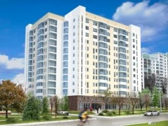 Завершается строительство 12-го этажа жилого комплекса по пр. Маршала Жукова, 18-А