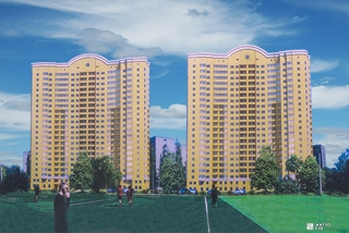 «Жилстрой-2» возводит 3-й этаж ЖК «Дуэт» по ул. Целиноградской