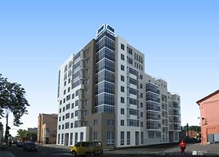 Возводится 1-й этаж ЖД «Подольский» в центре Харькова