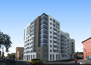 Возводится 9-й этаж жилого дома «Подольский»