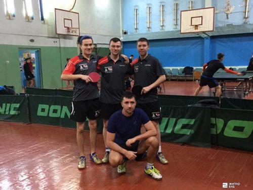 Команда «Жилстрой-2» по настольному теннису лидирует в Клубном чемпионате Украины