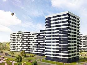 Возводится 6-й этаж 1-й секции (Б1) жилого комплекса «Пролісок» возле метро «Дворец спорта»