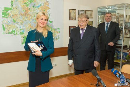 Глава облгосадминистрации Юлия Светличная встретилась с коллективом «Жилстрой-2»