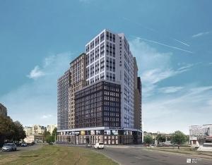 Продолжается строительство МФК «Манхэттен» в Харькове