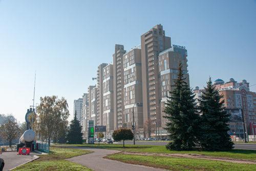 """В пятой секции ЖК """"Павловский квартал"""" ведутся  фасадные работы"""