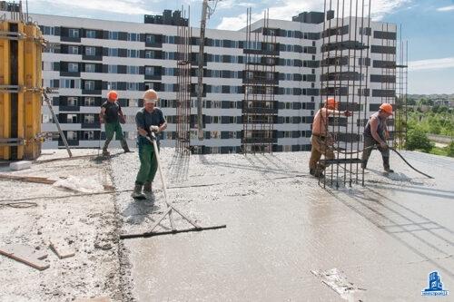 """В секции №1 дома №4 ЖК """"Пролiсок"""" завершено устройство вертикальных конструкций шестого этажа"""
