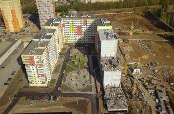 """В секции №14 ЖК """"Меридиан"""" ведется монтаж перекрытия над вторым этажом"""