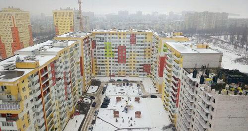 """В секции №14 ЖК """"Меридиан"""" ведется монтаж вертикальных конструкций шестого этажа"""