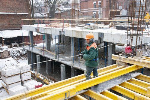 """В ЖК """"Октава"""" завершен монтаж вертикальных конструкций первого этажа"""