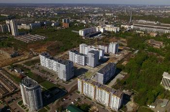 """У секції №1 будинку №5 ЖК """"Пролiсок"""" завершено монтаж перекриття над дванадцятим поверхом"""
